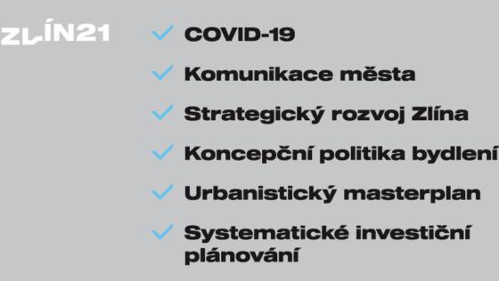 Zastupitelstvo 18. 6. 2020: Zlín 21 předkládá 6 návrhů