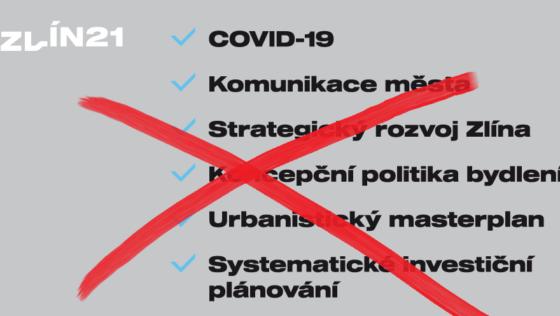 6 návrhů hnutí Zlín 21 nebylo ani zařazeno do programu jednání zastupitelstva